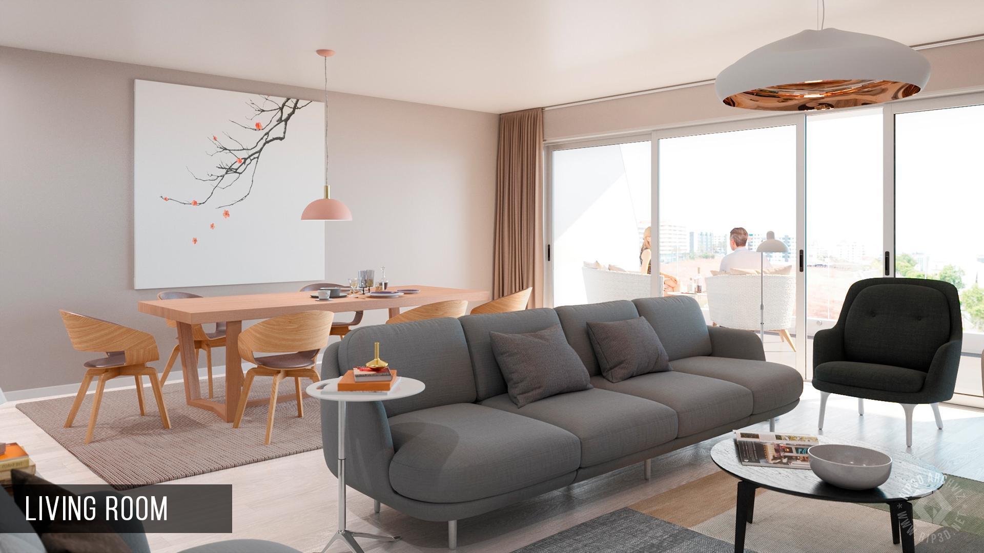 sao lucas residence - living room